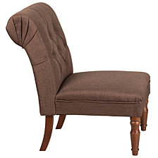 Hercules Elm Park Series Brown Fabric Tufted Chair