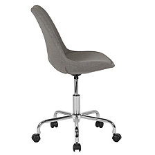Aurora Series Mid-Back Light Gray Fabric Task Chair With Pneumatic Lift And Chrome Base