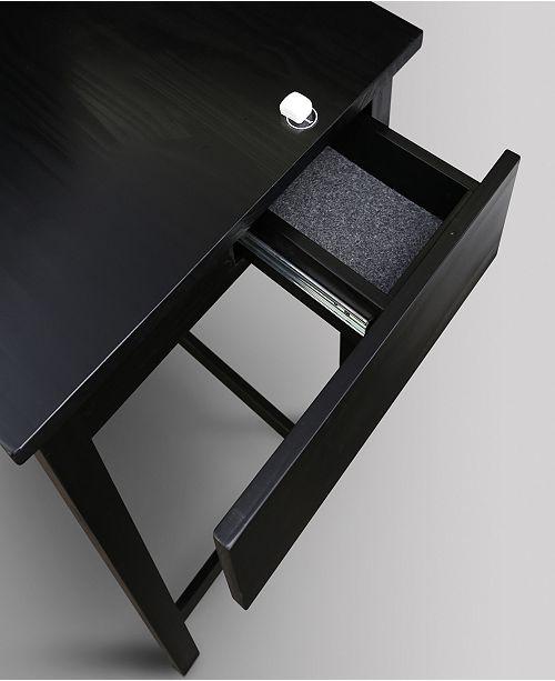 Yu Shan Jefferson Work Desk With Concealed Side Drawer Concealment