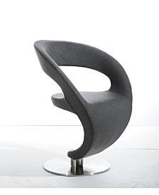 Modrest Alya Modern Grey Fabric Lounge Chair