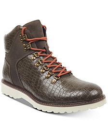 GUESS Men's Faxon Lace-Up Boots