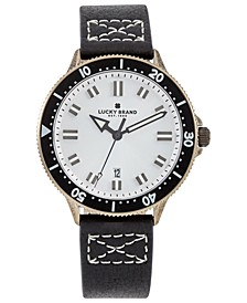 Men's Dillon Black Leather Strap Watch 42mm