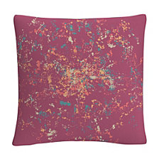 "Speckled Colorful Splatter Abstract 8 16x16"" Decorative Throw Pillow by ABC"