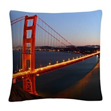 "Golden Gate Sf Photography Dusk 16x16"" Decorative Throw Pillow by Pierre Leclerc"