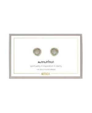 KITSCH Guiding Gems Earrings in Moonstone