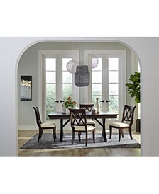 Baker Street Dining 5-Pc. Set (Dining Trestle Table & 4 Side Chairs)