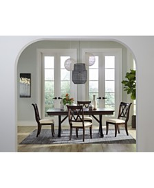 Baker Street Dining Furniture 5 Pc Set Trestle Table 4