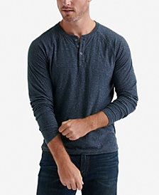 Lucky Brand Men's Snow Heathered Henley