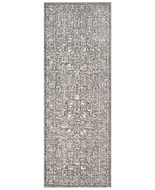 "Harput HAP-1029 Gray 2'7"" x 7'3"" Area Rug"