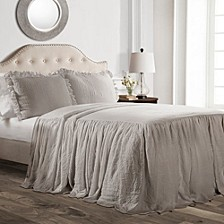 Ruffle Skirt 2-Piece Twin Bedspread Set