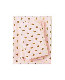 Intelligent Design Metallic Dot Queen Printed Sheet Set