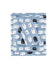 Flannel California King Cotton Sheet Set