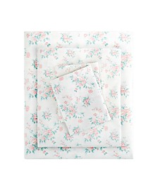 Madison Park Floral Full Comfort Wash Cotton Sheet Set