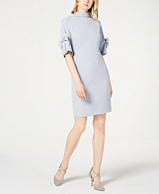Ivanka Trump Mock-Neck Bow Dress