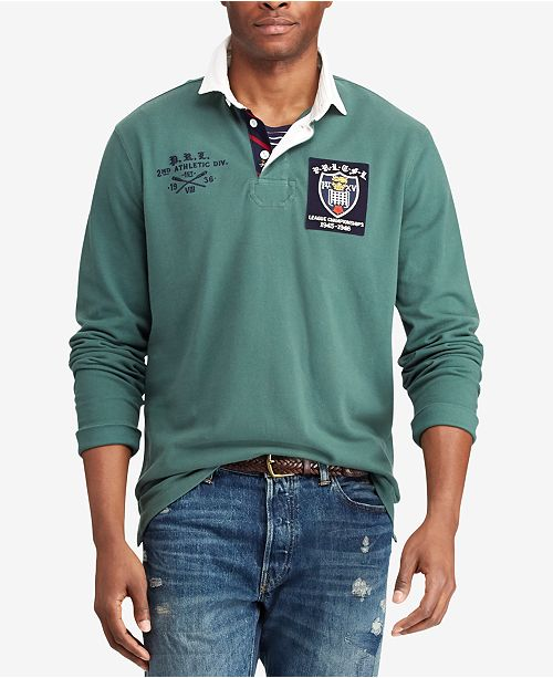 a6dc48817a3 Polo Ralph Lauren Men's Classic Fit Mesh Rugby Shirt & Reviews ...