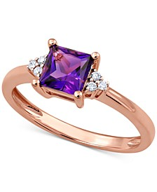 Amethyst (3/4 ct. t.w.) & Diamond Accent Ring