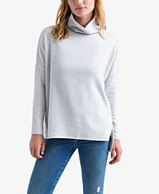 Lucky Brand Dropped-Shoulder Turtleneck Sweater