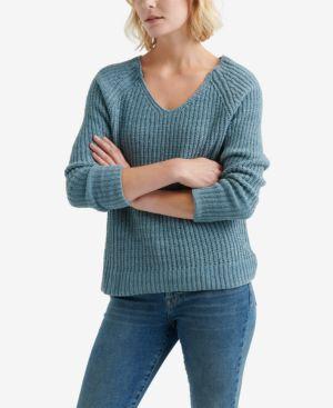 LUCKY BRAND Oversized Chenille Sweater in Citadel