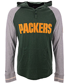 Mitchell & Ness Men's Green Bay Packers Slugfest Lightweight Hooded Long Sleeve T-Shirt