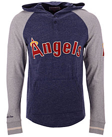 Mitchell & Ness Men's Los Angeles Angels Slugfest Lightweight Hooded Long Sleeve T-Shirt