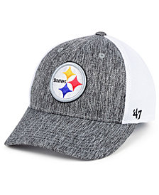 '47 Brand Pittsburgh Steelers Hazy Flex CONTENDER Stretch Fitted Cap
