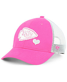 '47 Brand Girls' Kansas City Chiefs Sugar Sweet Mesh Adjustable Cap