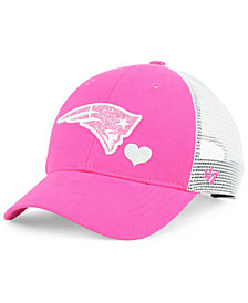 '47 Brand Girls' New England Patriots Sugar Sweet Mesh Adjustable Cap