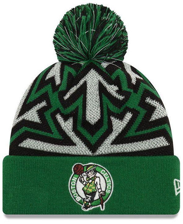 New Era Boston Celtics Glowflake Cuff Knit Hat