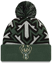 New Era Milwaukee Bucks Glowflake Cuff Knit Hat