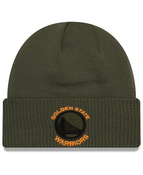 New Era Golden State Warriors Tip Pop Cuffed Knit Hat