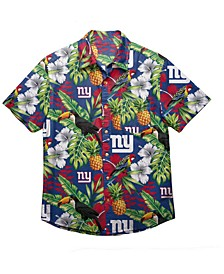 Men's New York Giants Floral Camp Shirt