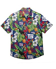 Forever Collectibles Men's New York Giants Floral Camp Shirt