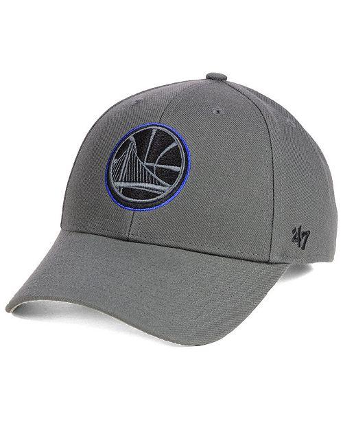 '47 Brand Golden State Warriors Charcoal Pop MVP Cap