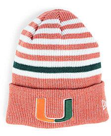 New Era Miami Hurricanes Striped Chill Knit Hat