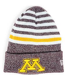 New Era Minnesota Golden Gophers Striped Chill Knit Hat