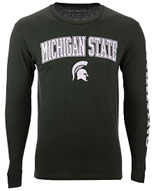 Colosseum Men's Michigan State Spartans Midsize Slogan Long Sleeve T-Shirt