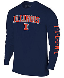 Colosseum Men's Illinois Fighting Illini Midsize Slogan Long Sleeve T-Shirt