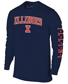 Colosseum Men's Illinois Fighting Illini Midsize Slogan Long Sleeve T-Shirt