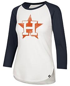 032448e9 '47 Brand Women's Houston Astros Imprint Splitter Raglan T-Shirt · '