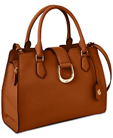 Lauren Ralph Lauren Kenton Pebble Leather Satchel, Created for Macy's