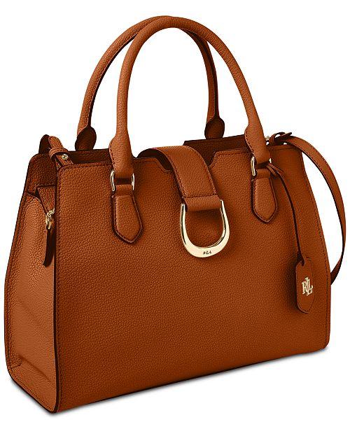 Kenton Pebble Leather Satchel Created For Macy S
