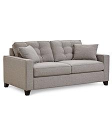 "Clarke II 75"" Fabric Apartment  Sofa, Created for Macy's"
