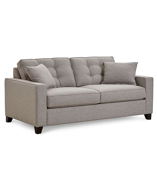Clarke II 75 Fabric Apartment Sofa, Created for Macy\'s