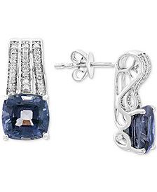 EFFY® Grey Spinel (5-1/4 ct. t.w.) & Diamond (1/5 ct. t.w.) Drop Earrings in 14k White Gold