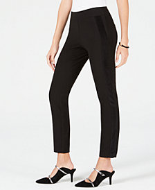 Alfani Velvet-Stripe Skinny Pants, Created for Macy's