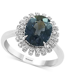 EFFY® Gray Spinel (3-3/8 ct. t.w.) & Diamond (1/5 ct. t.w.) Ring in 14k White Gold