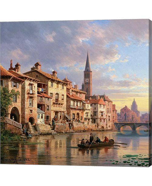 Metaverse Riverside Village I by Charles Euphrasie Kuwasseg Canvas Art