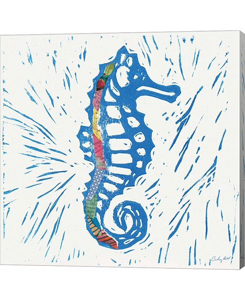Metaverse Sea Creature Sea Horse Color by Courtney Prahl Canvas Art
