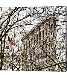 Veiled Flatiron Building, Detail by Erin Clark Canvas Art