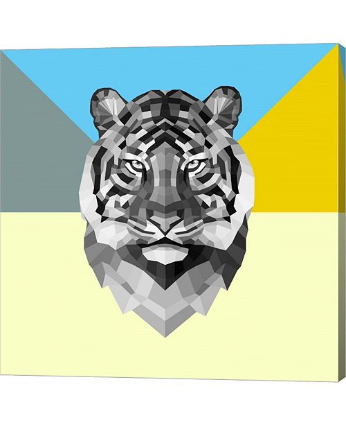 Metaverse Party Tiger by Lisa Kroll Canvas Art